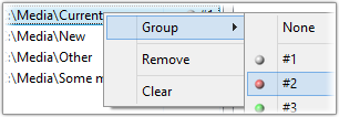 Screenshot: Premium version - Using folder groups
